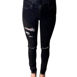 AG Distressed Super Skinny Legging